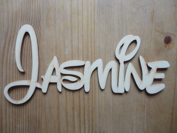 New Personalised Wooden Word Script Any Name Font Plaque Sign Ply MDF Letters