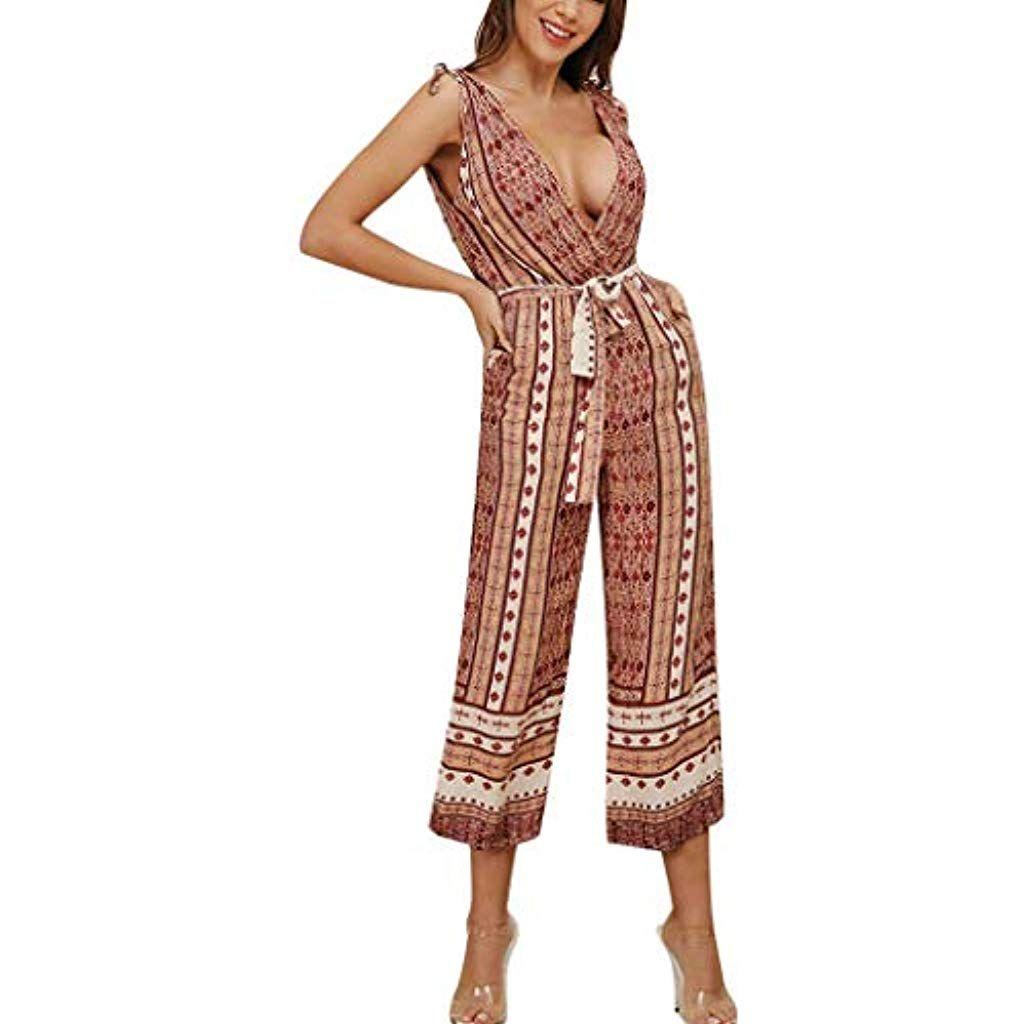 Damen Mode Lässig Ärmelloses Latzhose Weste Beiläufig Bequem Overall Langes Hose