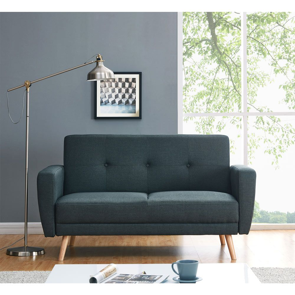 esben 2 seater sofa bed - charcoal