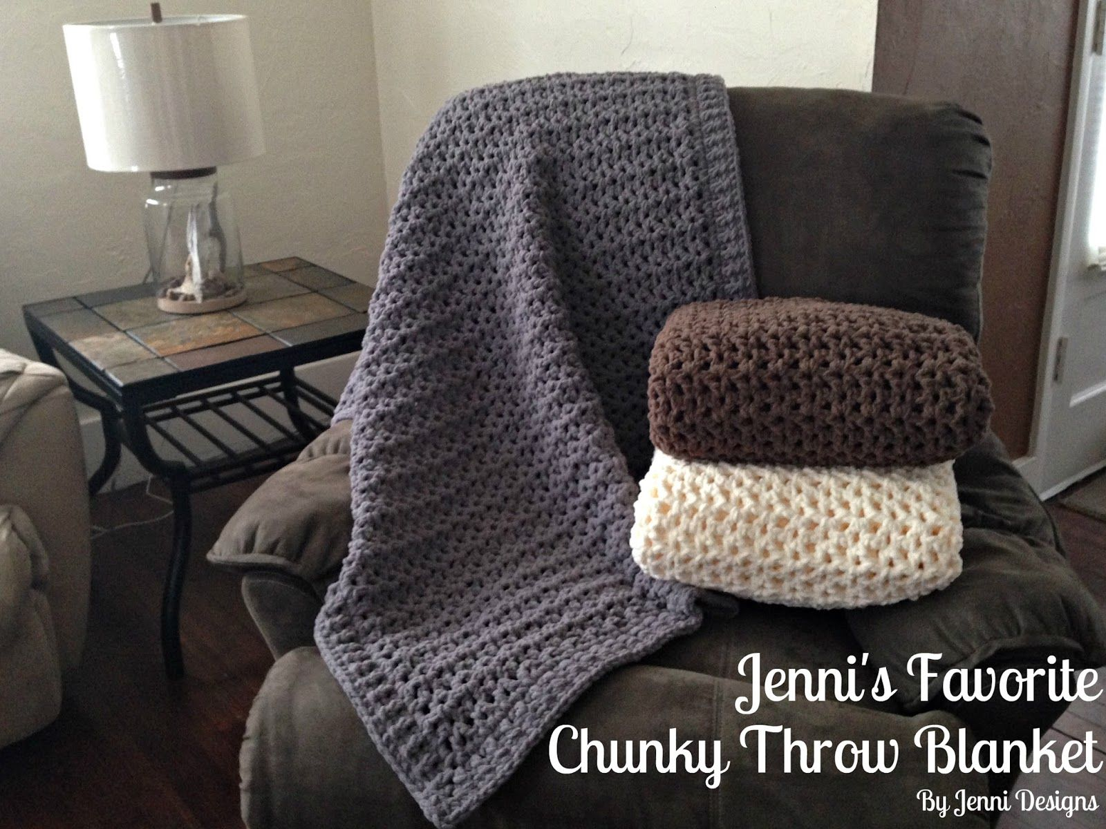 Free Crochet Pattern: Jenni\'s Favorite Chunky Throw Blanket using ...