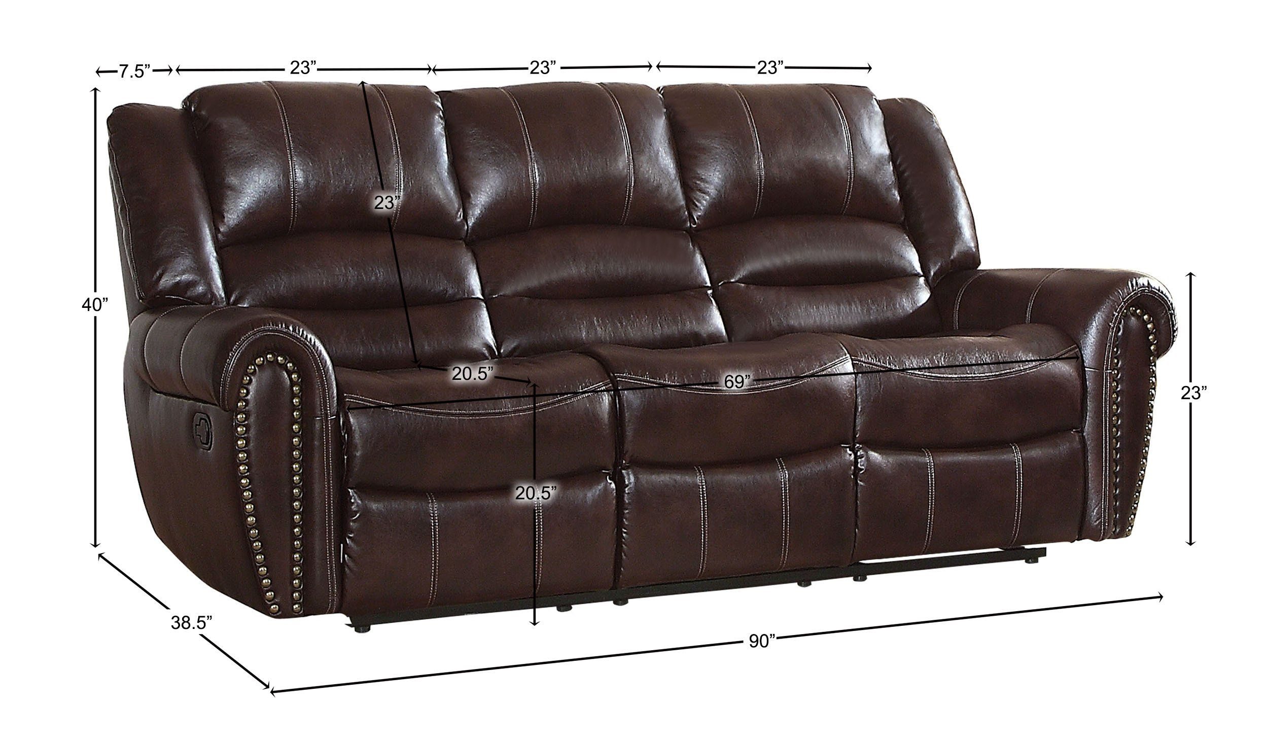 Homelegance Center Hill 90 Double Reclining Sofa Dark Brown Leather Gel Match You Can Find More Details By Visiting The Image Link It Is An Reclining Sofa Leather Reclining Sofa Sofa