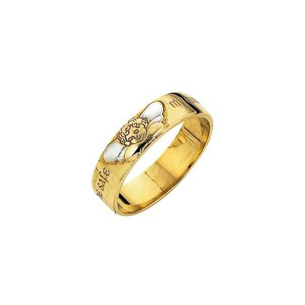Buy 9ct Gold Guardian Angel Ring at Argos Your line