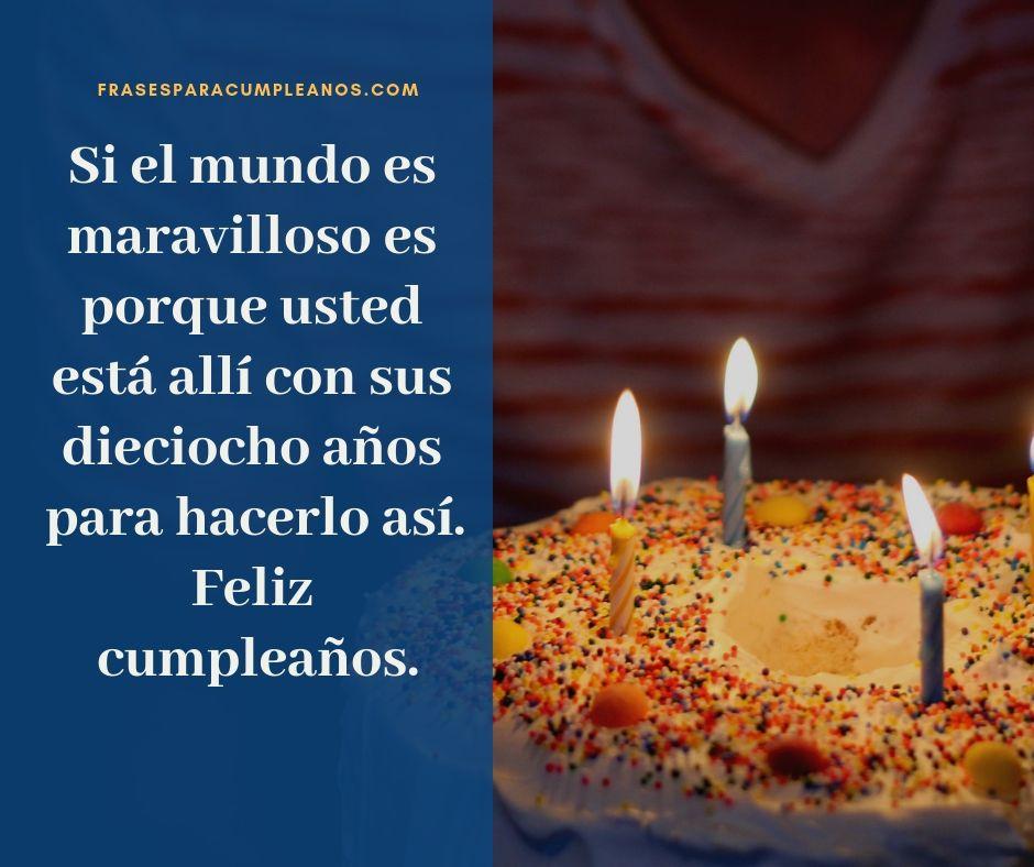 Pin En Deseos De Felicitaciones De Cumpleanos Numero 18