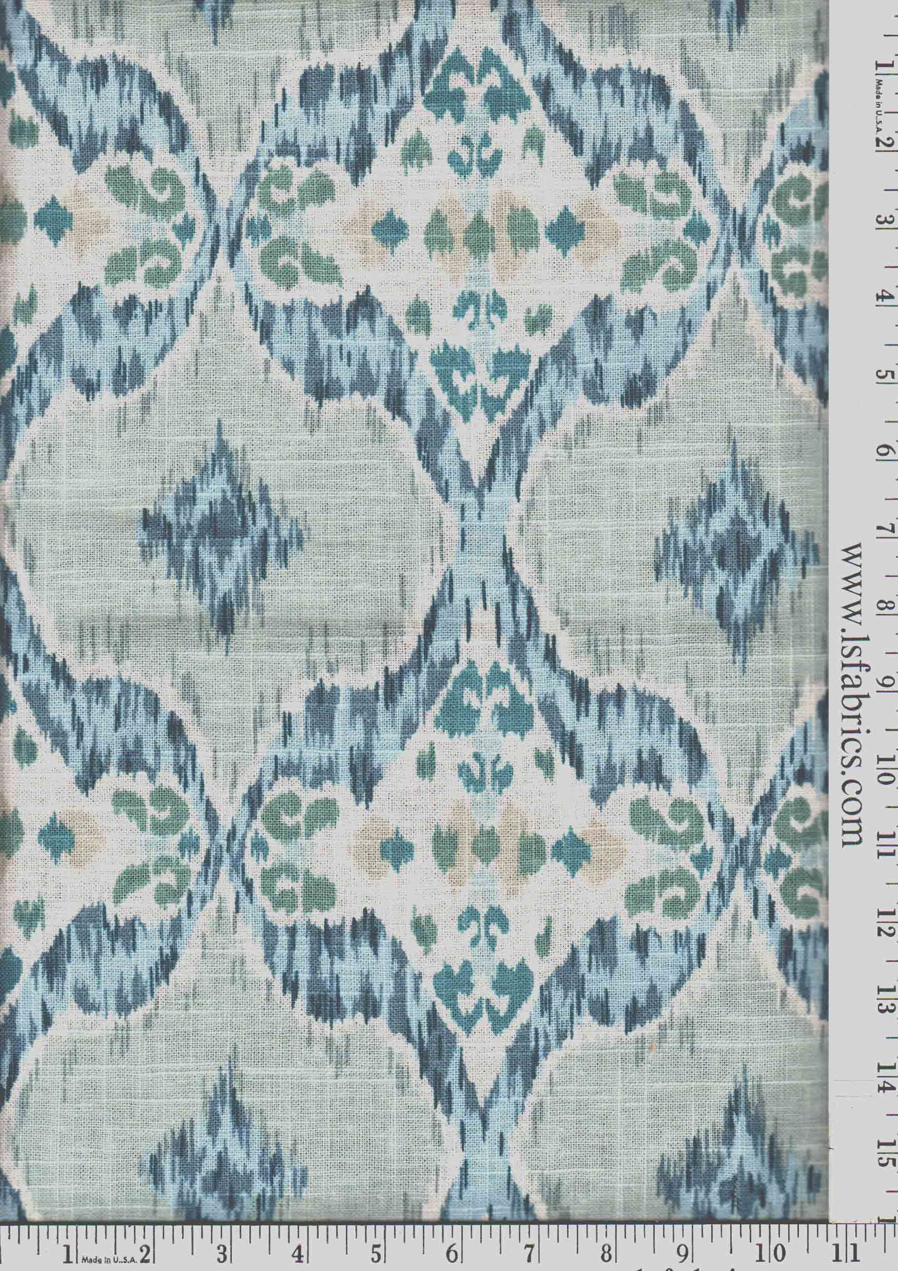 rigi ink thom filicia fabric by kravet fabric 42 cotton 38 blue green grey and ivory ikat curtain panels custom drapery in designer fabric