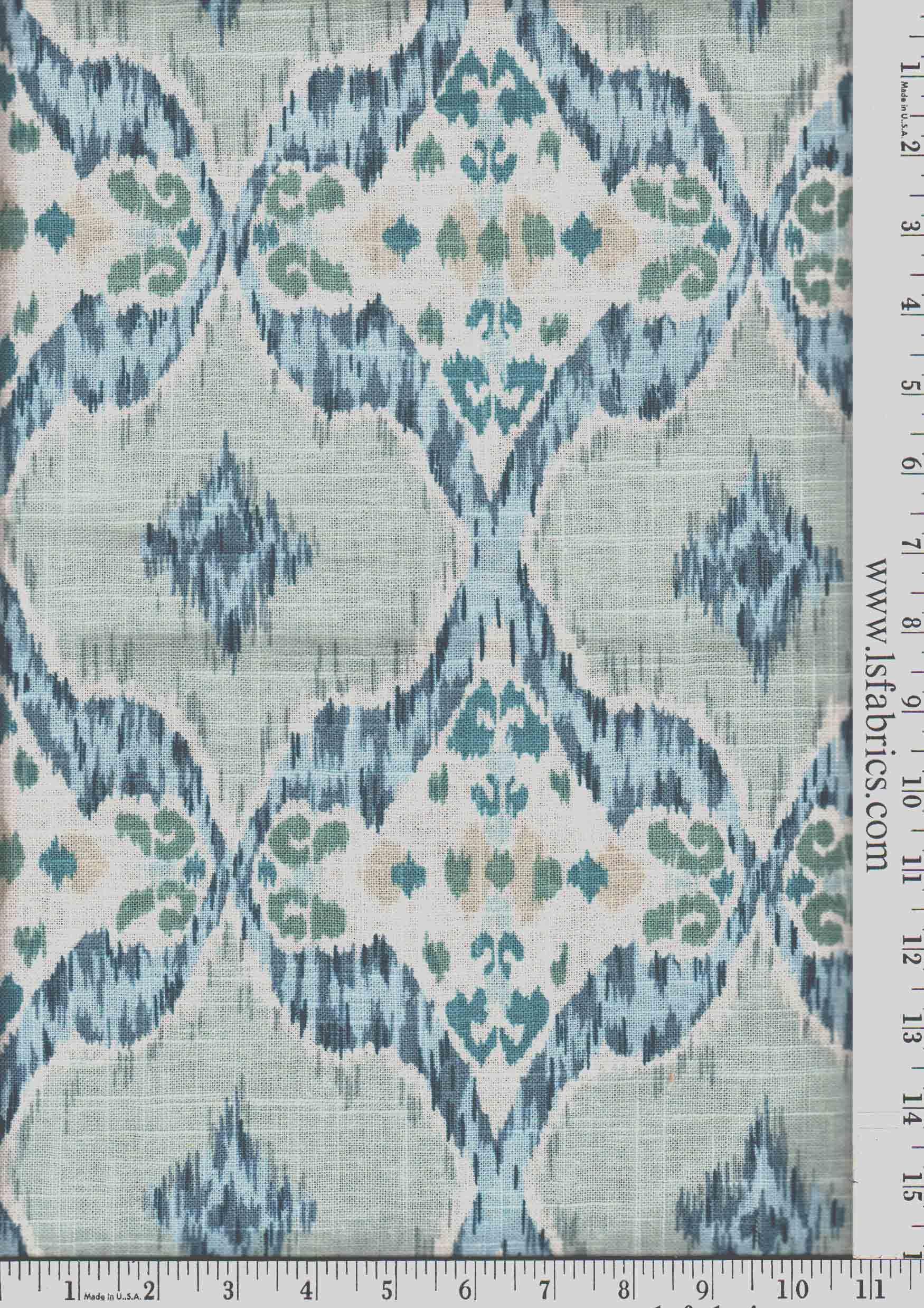 rigi ink thom filicia fabric by kravet fabric 42 cotton 38 blue green grey and ivory ikat curtain panels custom drapery in designer fabric