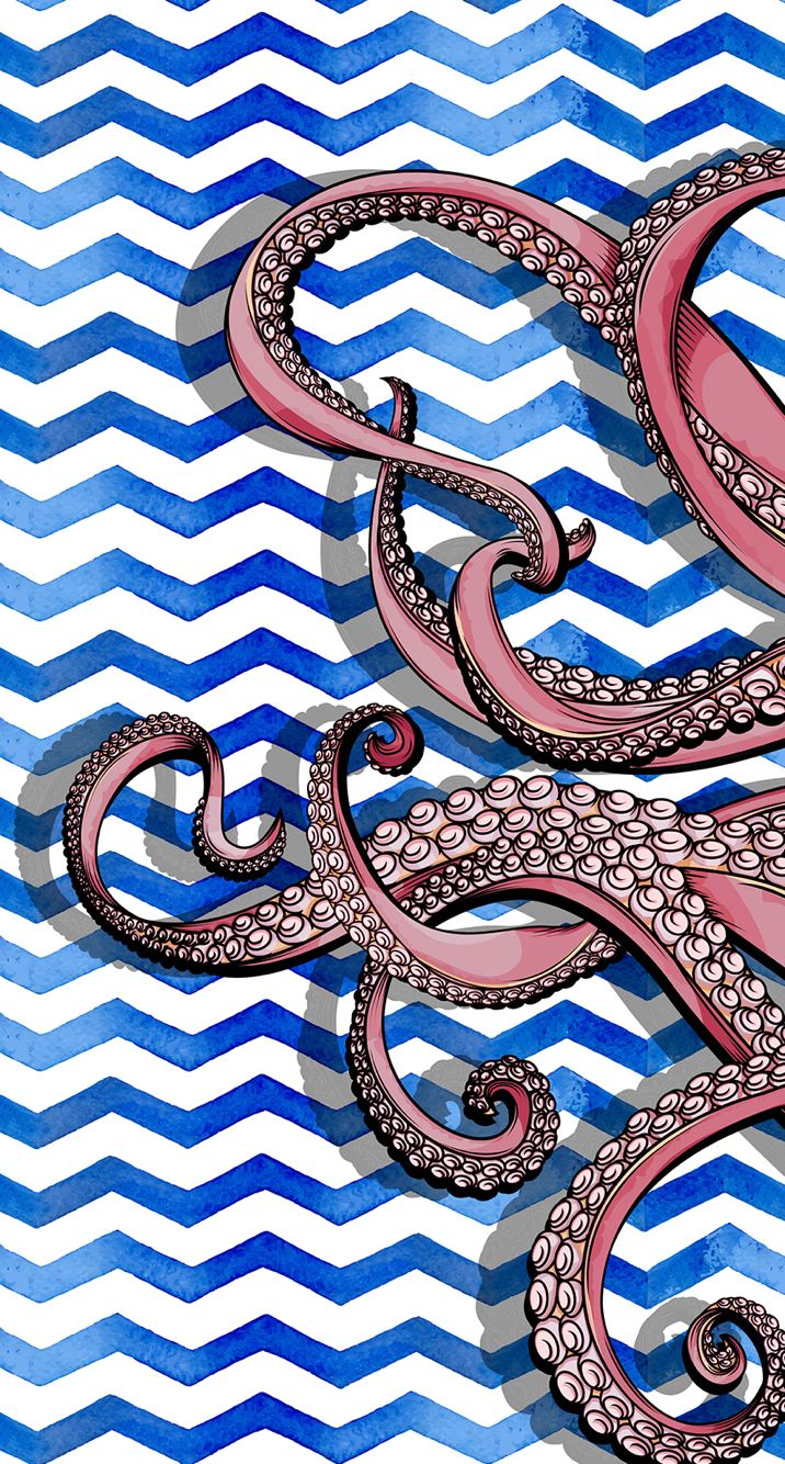 Octopus Design Background Graphicsprints Octopus Wall Art