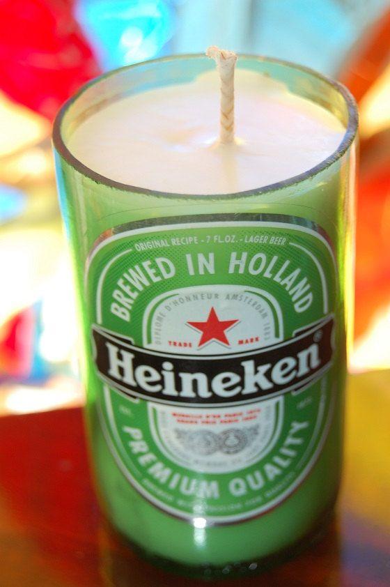 Heineken Candles by TikiCommander on Etsy