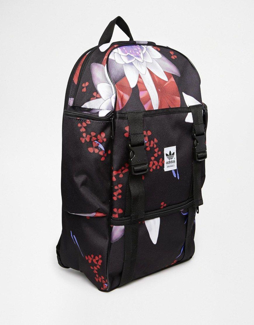 aa36902db79d Image 2 of Adidas Originals Backpack in Lotus Print