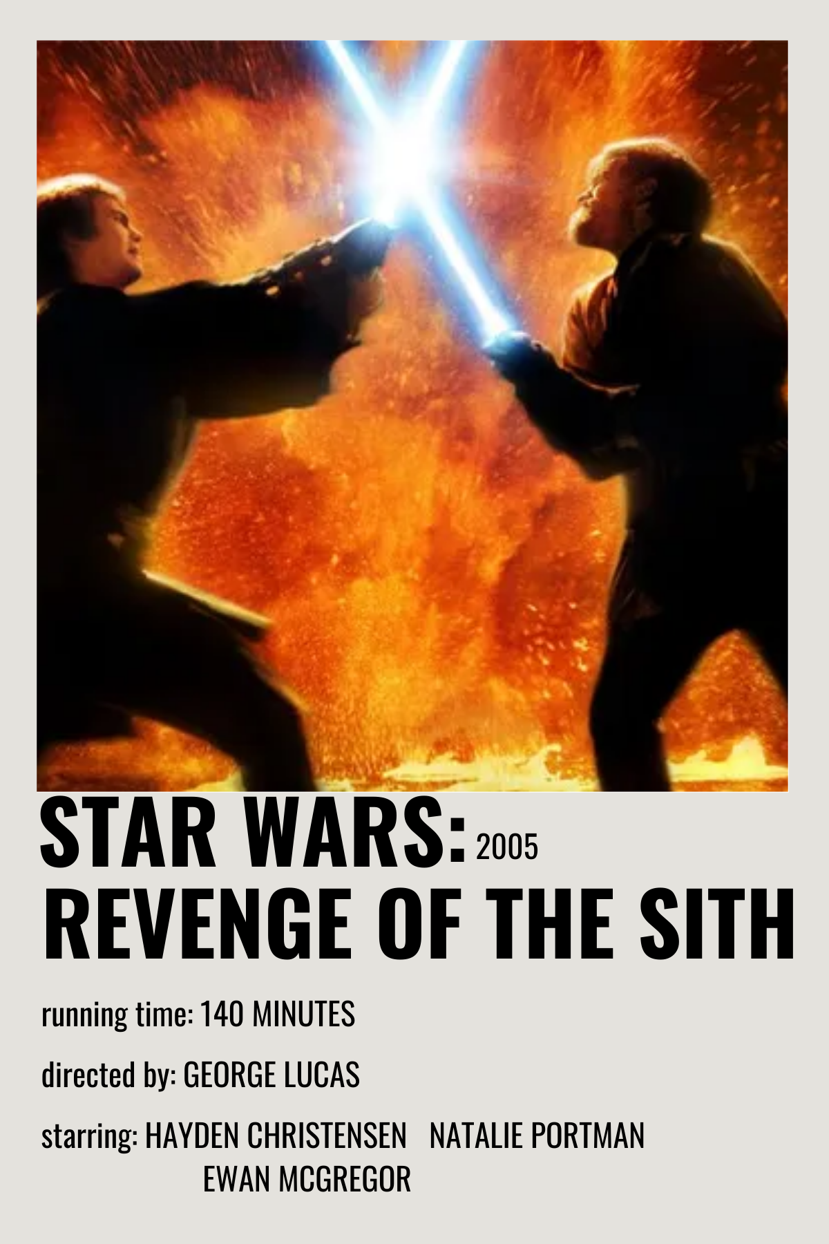 star wars revenge of the sith movie poster