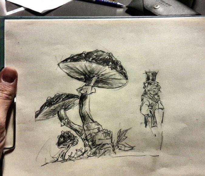 Mushroom and Frog