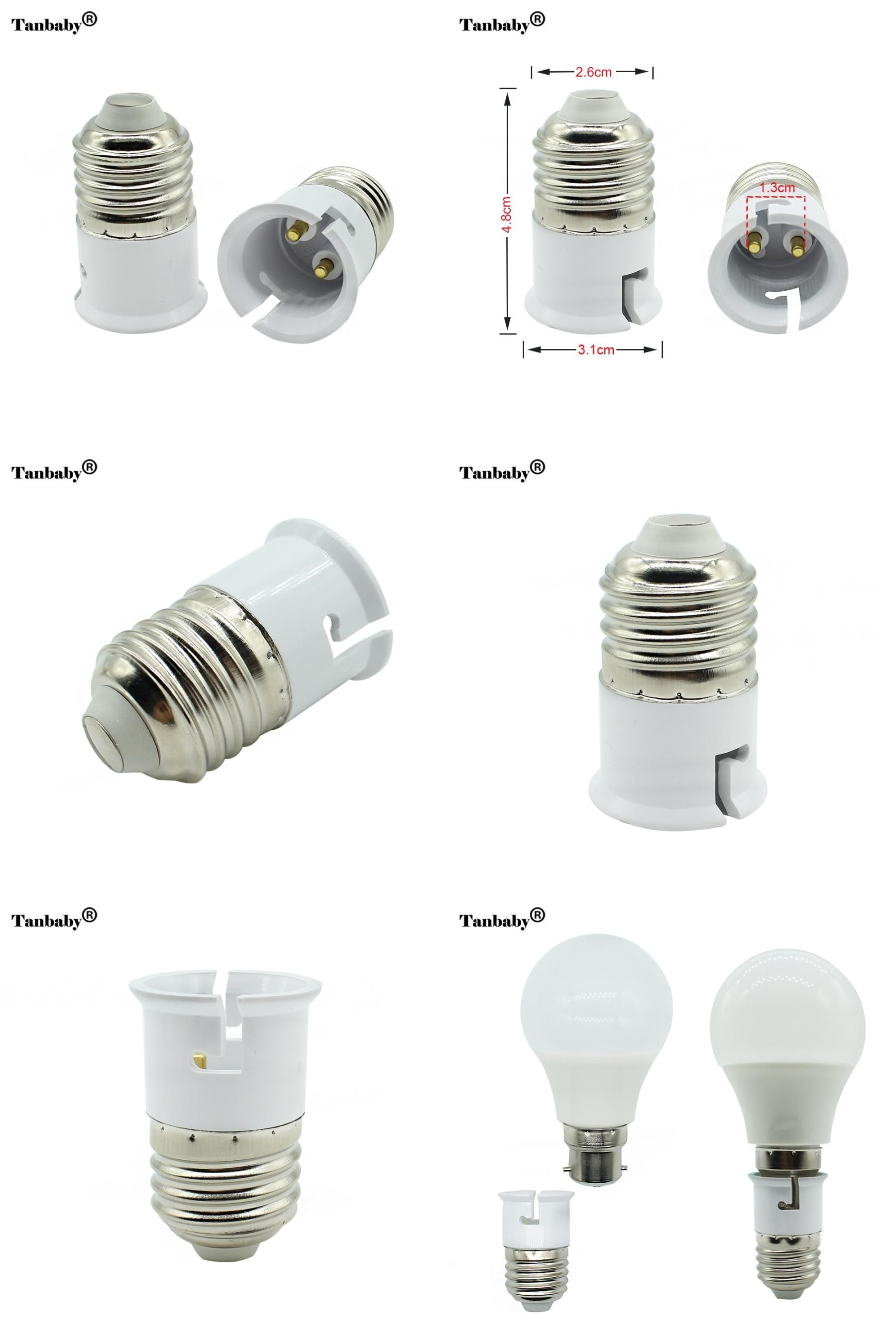 Visit To Buy Tanbaby 1pcs E27 To B22 Fireproof Material Lamp Holder Converter Socket Base Type Adapter Conversion Light Bulb Adv Lamp Bulb Bulb Adapter Lamp