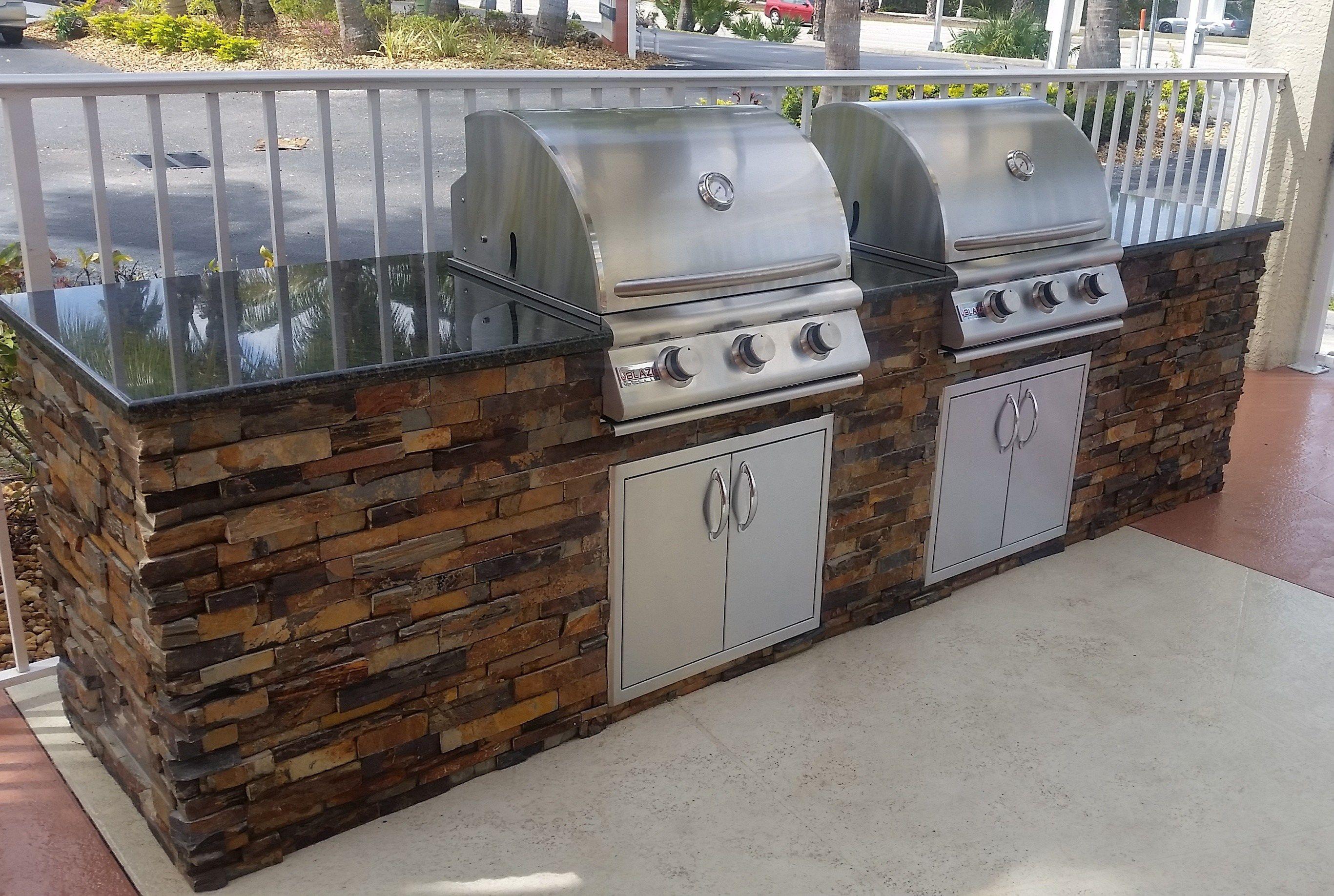 Dueling Grills Custom Outdoor Kitchen Build Elegant Outdoor Kitchens Diy Outdoor Kitchen Build Outdoor Kitchen Outdoor Kitchen Grill