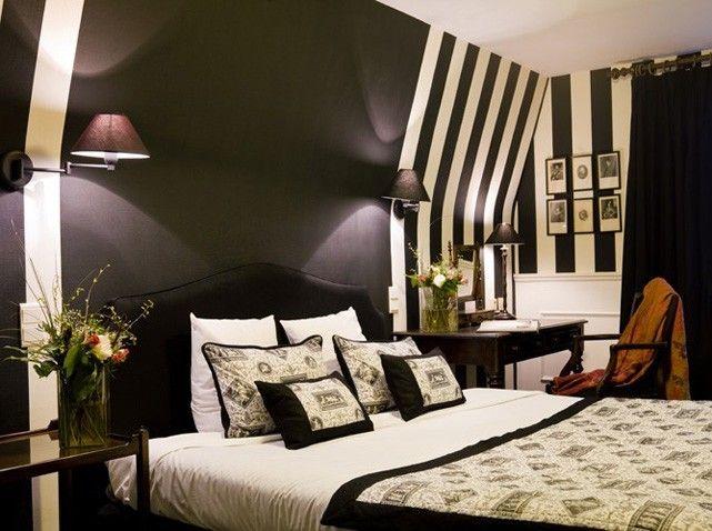 décoration chambre noir et blanc et rouge - Recherche Google déco