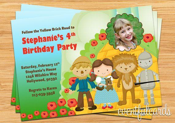 Wizard Of Oz Birthday Invitations