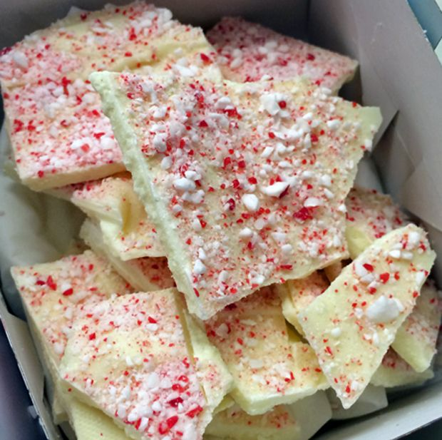 Peppermint White Chocolate Bark