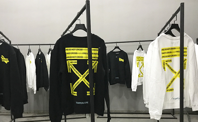 Off White Fire Line Tape Printed Cotton Sweatshirt Hit Stores Come Close And Personal With These States Off White Sweatshirts Offwhite Firelinetape Fireli