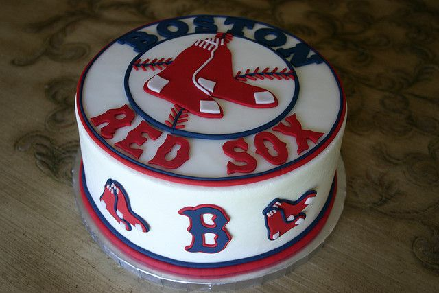 Boston Red Sox With Images Red Sox Cake Boston Red Sox Cake
