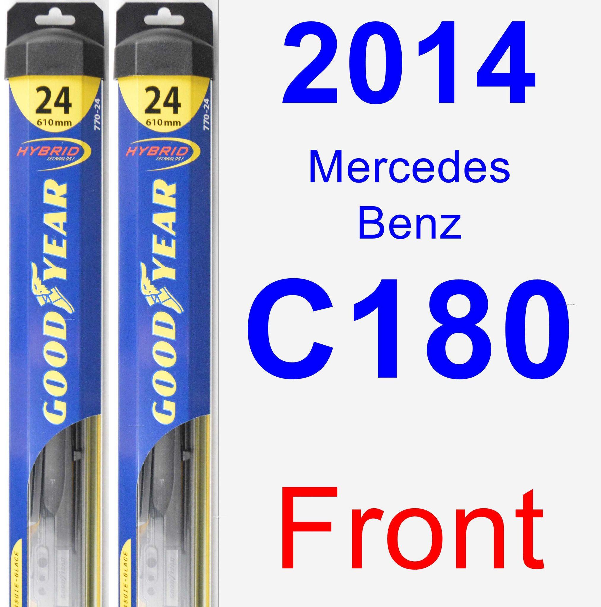 Front Wiper Blade Pack for 2014 Mercedes Benz C180 Hybrid