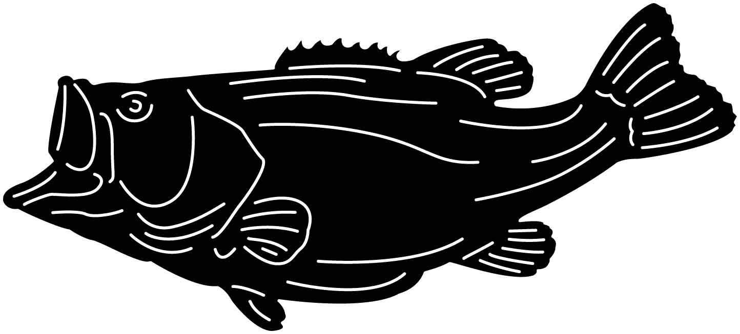 Bass Fish Free DXF file