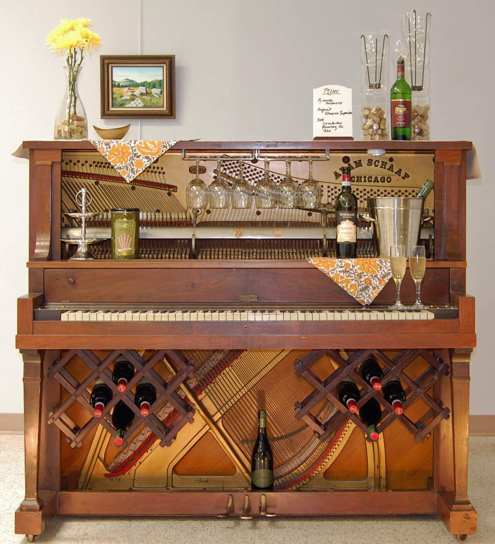old piano turned into a bar Google Search