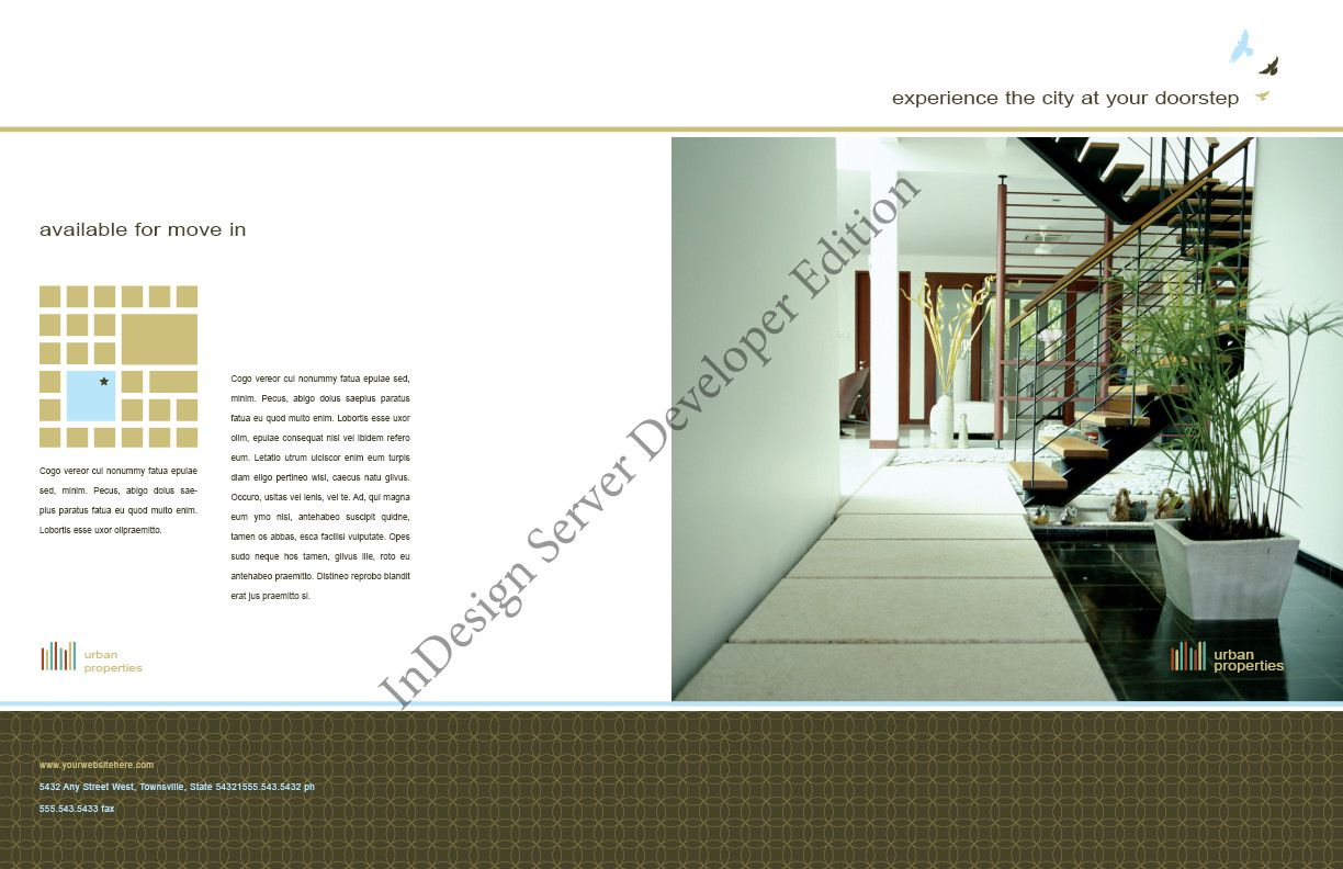 Urban Real Estate Brochure available @4pmDesign.com.com