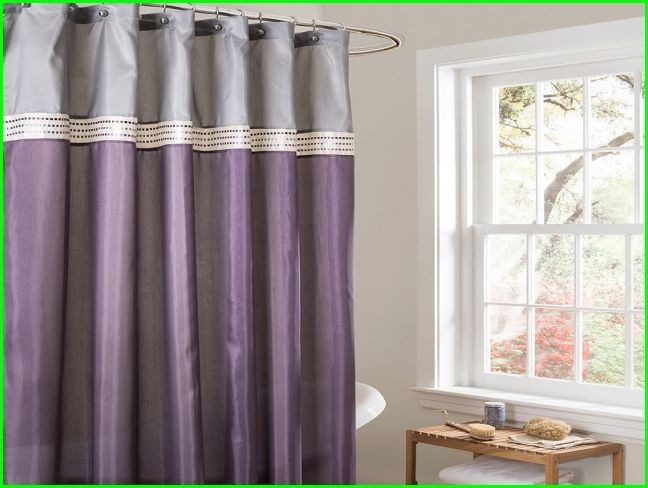 Purple And Gray Shower Curtain Curtains Striped Shower Curtains Gray Shower Curtains