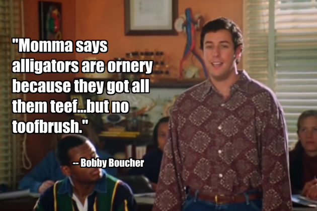Waterboy Quotes Classy The 48 AllTime Greatest Sports Movie Quotes Quotes From Movies