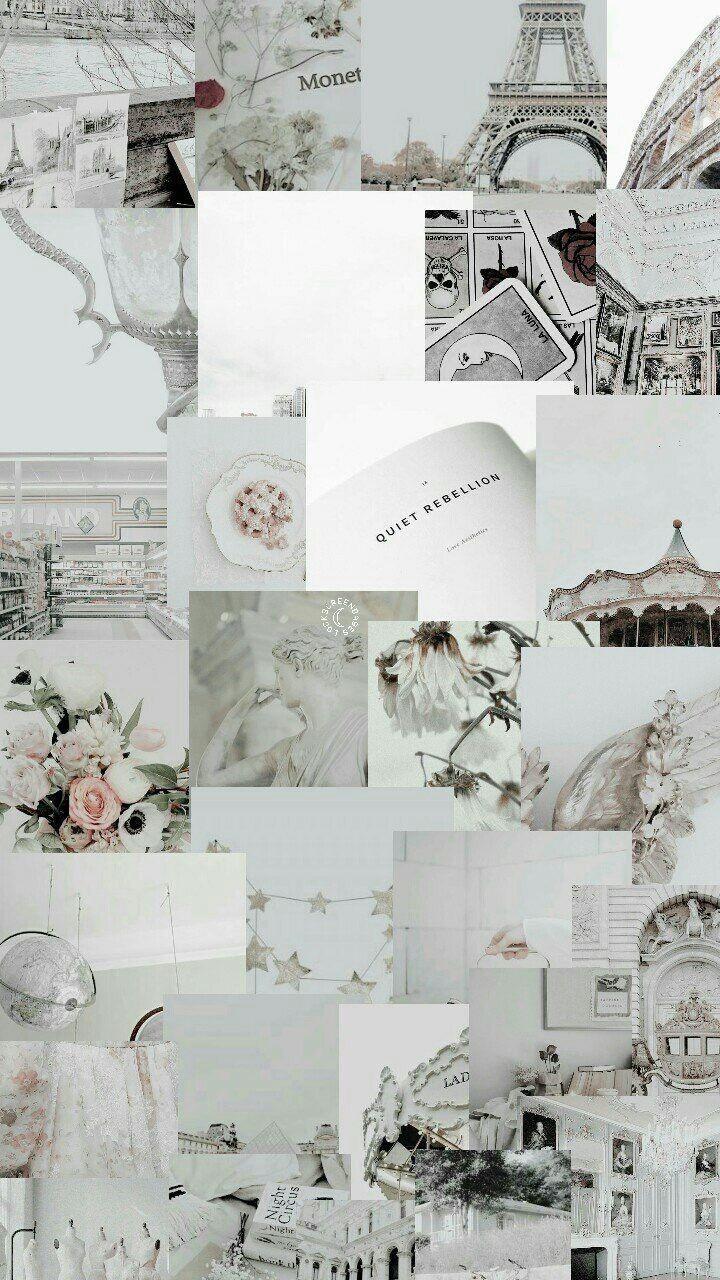 White Aesthetic Header Pinterest