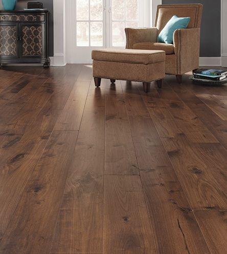 Elegant Wood Floor Basement
