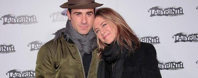 Justin Theroux and Jennifer Aniston. (Getty Images)