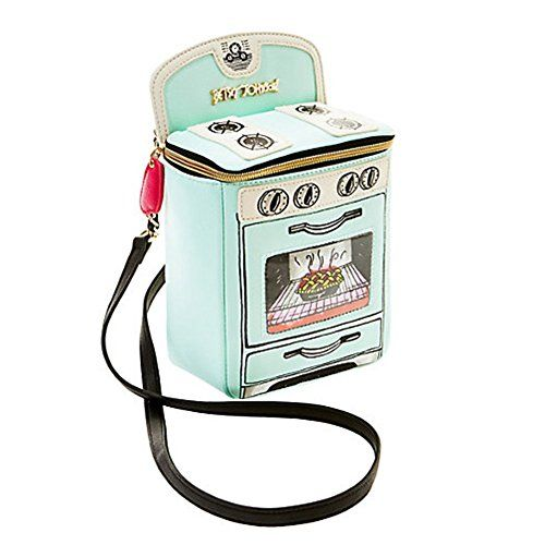 Betsey Johnson Kitsch Cooking Oven Crossbody Bag In Mint