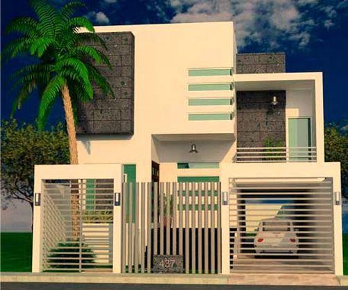 Im genes de rejas en fachadas de viviendas buscar con - Casas con jardin interior ...