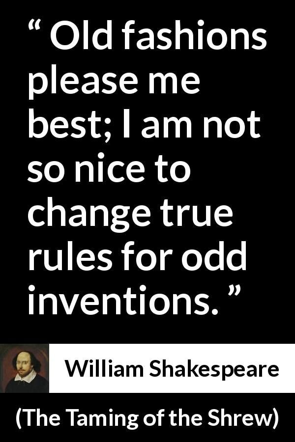 "William Shakespeare about invention ""The Taming of the"