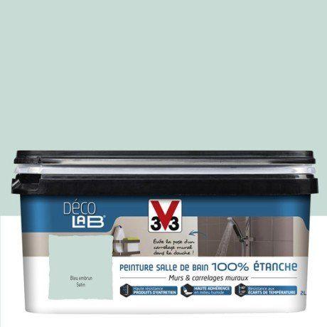 Peinture Décolab 100% étanche V33, Bleu embrun, 2 l | Chambre adèle ...