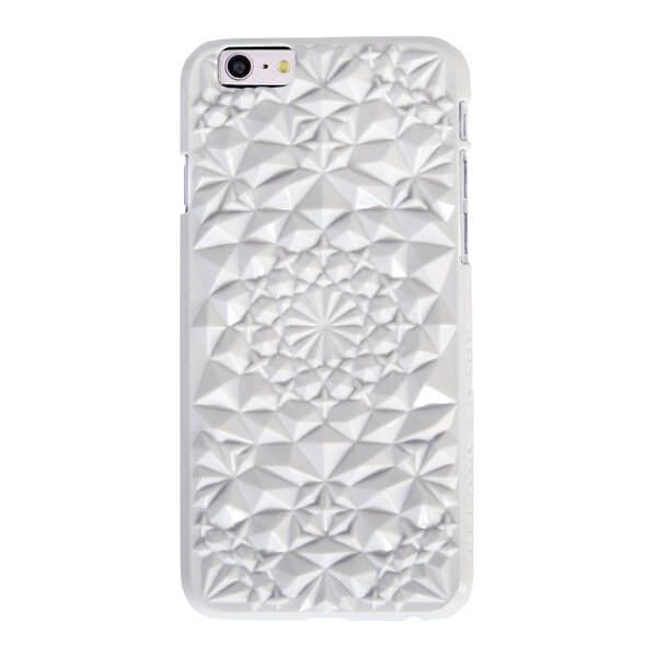 Felony Case Kaleidoscope iPhone 6 Case in Gloss White (€28) ❤ liked on Polyvore featuring accessories, tech accessories and tech