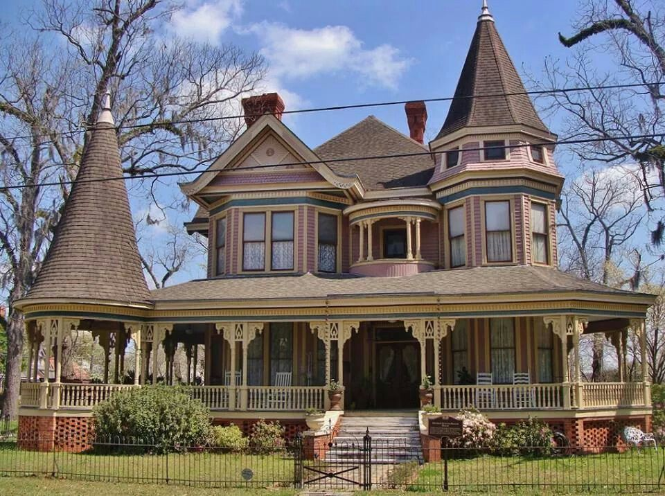 Victorian house with turret & gazebo