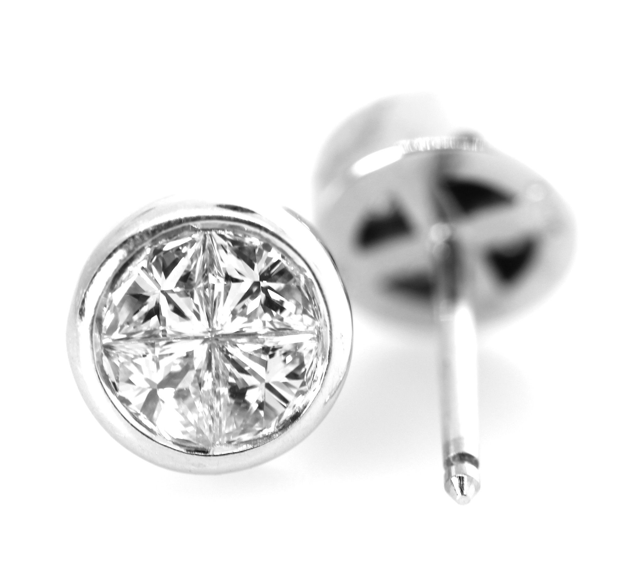 Pie Shaped Diamond Earrings Estate Jewelry Pinterest