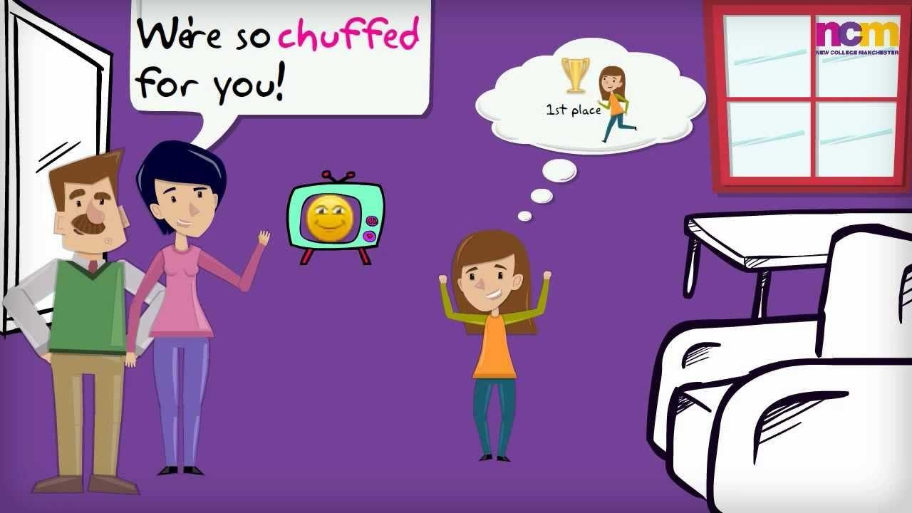 "British English Slang ""Chuffed"" - BR004"