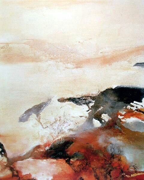 Zao Wou Ki 趙無極 Abstract Oil Painting Abstract Painting