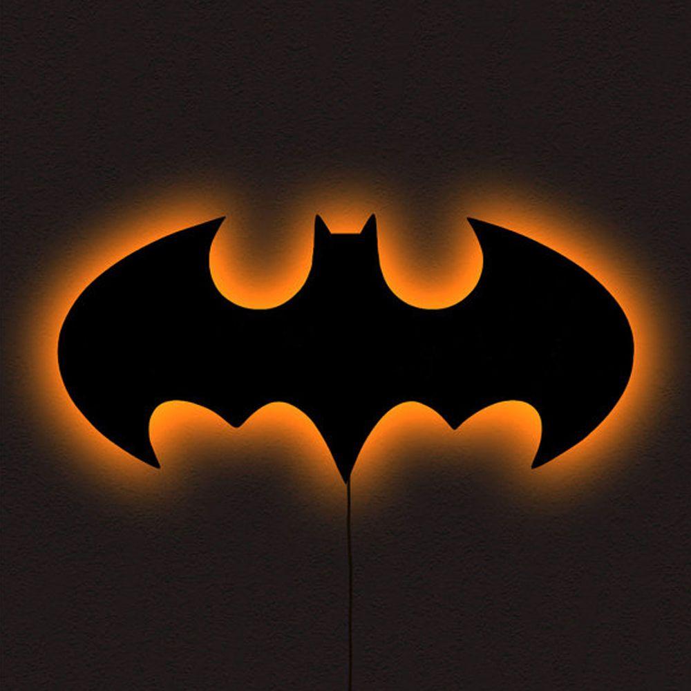 Led Wall Art batman symbol led wall art black multi colored night light usa