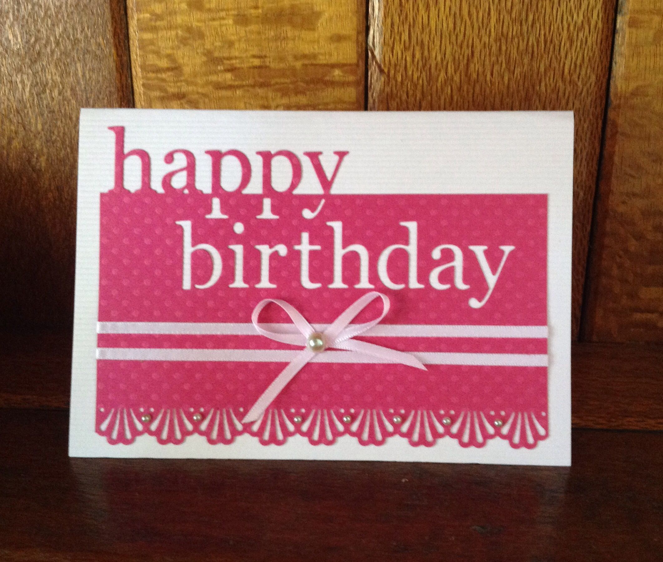Birthday Die Cut Martha Stewart Punch Womens Birthday Cards By