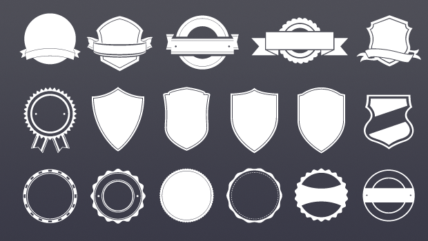Badge Template shop Brushes and Shapes