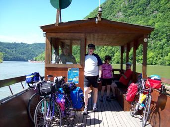 Bicycle Ferry Across The Danube River At Schlogen Austria There Are 3 Ferries In This Area To Carry Cyclists Along The Dan Cycling Route Touring Danube River