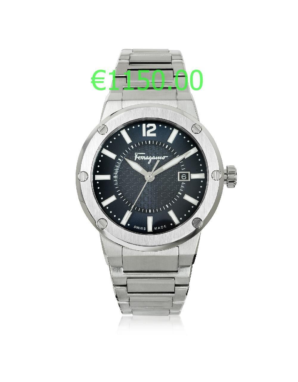 €1150.00 F 80 montre homme en acier inoxydable argent