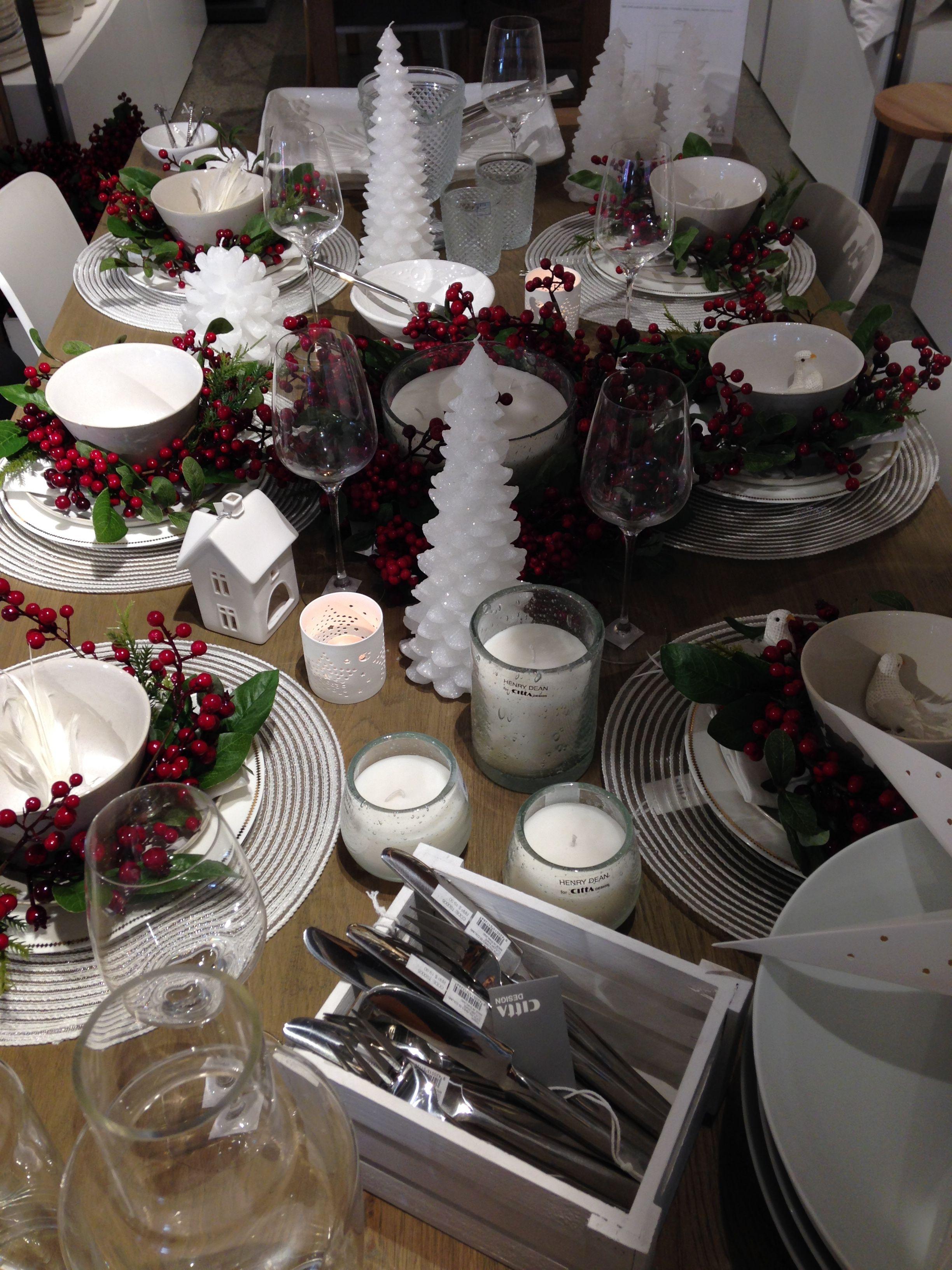 Citta Design Christmas table styling CHRISTMAS