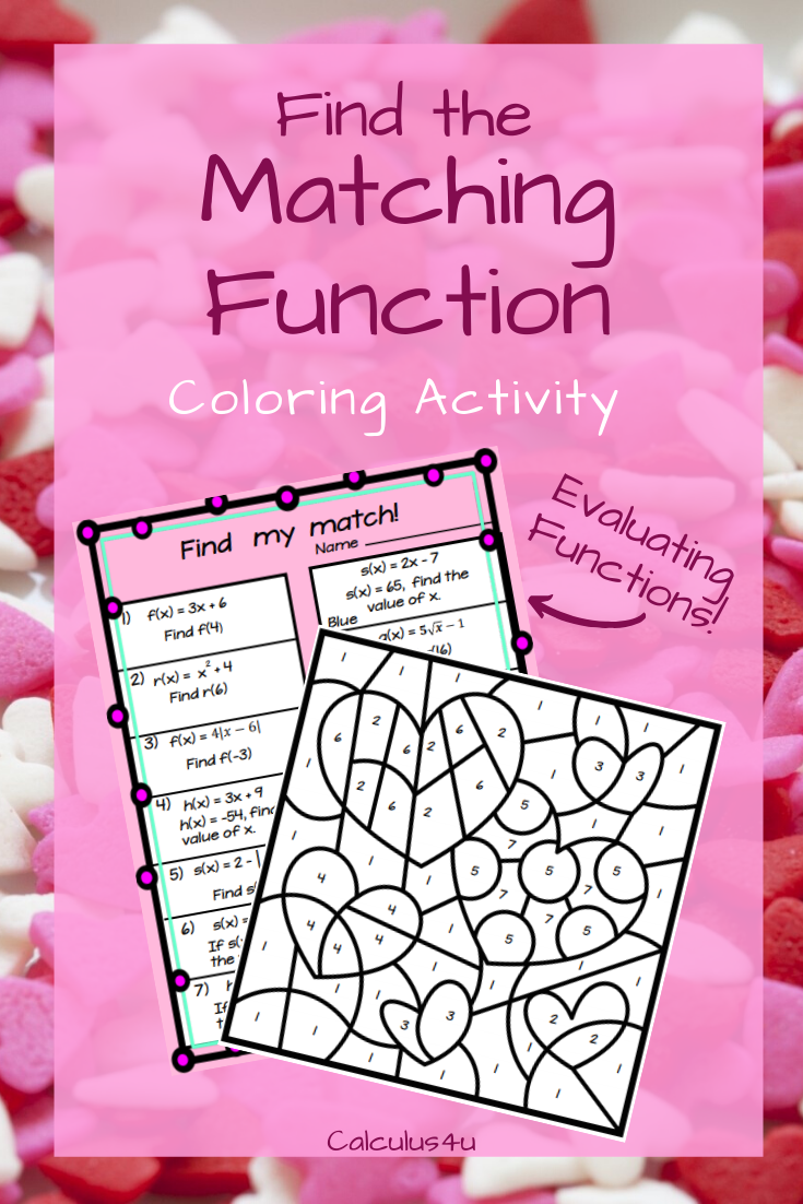 Evaluating Functions Coloring Activity Color Activities Algebra Activities Activities [ 1102 x 735 Pixel ]