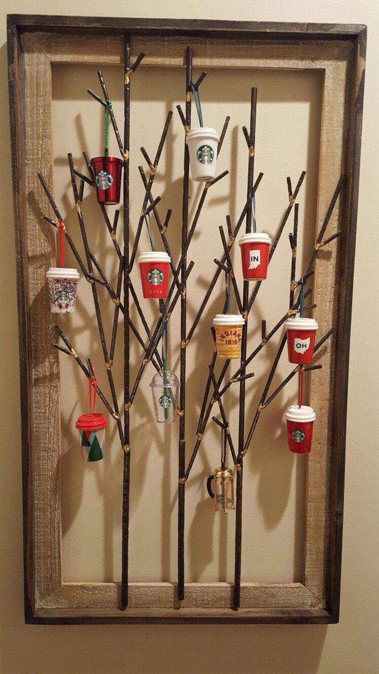 Starbucks Ornament Unique Tree Display Starbucks Crafts Ornament Tree Display Christmas Display