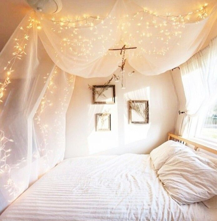 Amazing Canopy Bed With Lights Decor Ideas