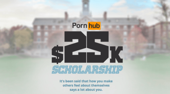 《成人網站獎學金》只要回答一個如此清新的問題就好