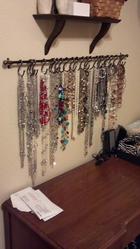 Jewelry wall DIY this looks like shower